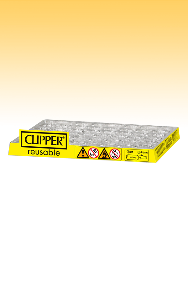 Thermoformed Clipper base - 48 lighters